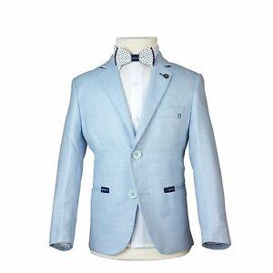 P de lino Chaqueta azul traje de chico marino Chaqueta de qxUB7z