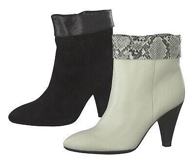 Damenschuhe Stiefeletten Plateau Ankle Boots Booties Fransen Materialmix Trendy