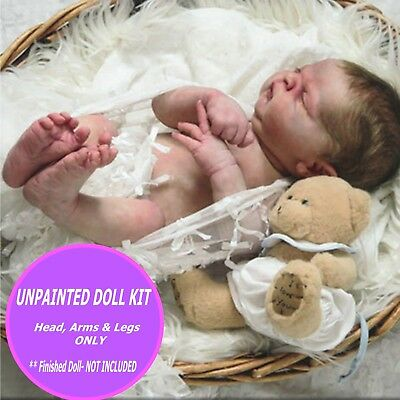 MADDOX FULL BODY DOLL KIT BLANK VINYL PARTS TO MAKE A REBORN BABY-NOT COMPLETED