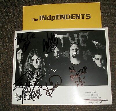 The Independents /band/ Autog Photo &photos/-real Hot Entertainment Memorabilia