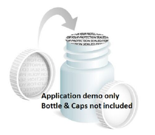 28mm Pressure Sensitive Sealed for your Protection Foam Cap liner Tamper New US