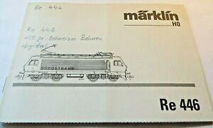 Manual For Märklin H0 34301 Series Re446 South Eastern Railway