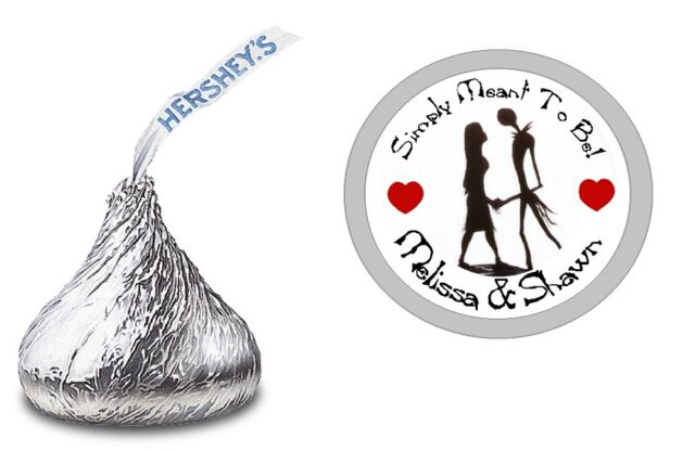 Nightmare Before Christmas Hershey Kiss Kisses Labels Stickers