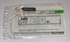 "WALTHERS N SCALE DECAL - NORFOLK & WESTERN 50' DBL PLUG DOOR BOX ""NW"" 838-74130"