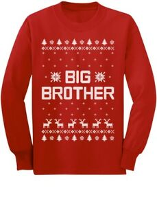 Big Brother Ugly Christmas Sweater Boys Sibling Toddlerkids Long