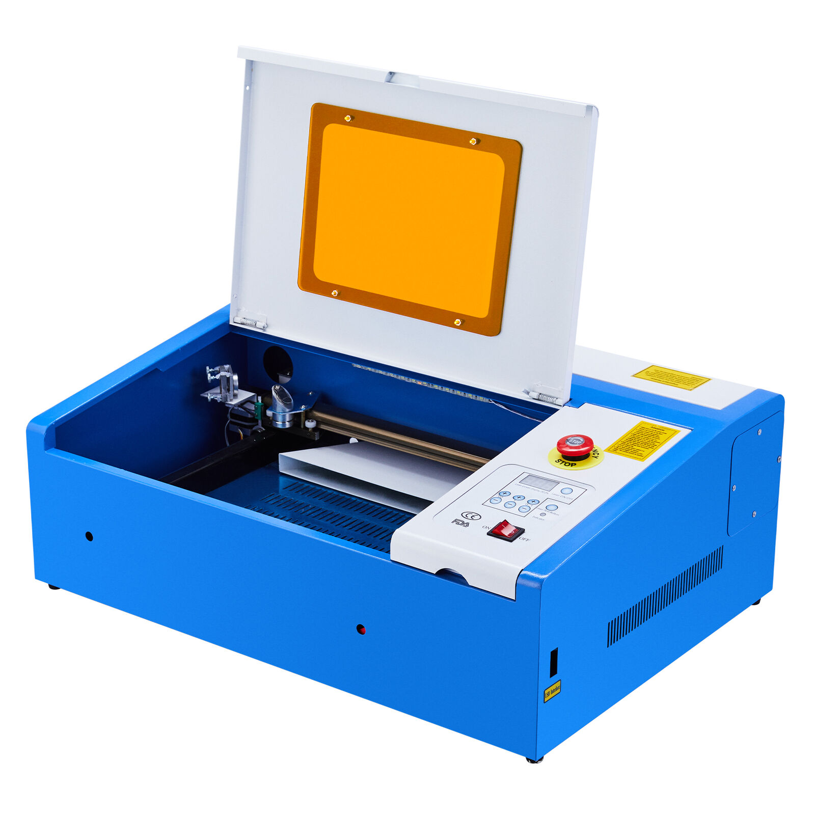 LASER ENGRAVER CUTTER AIR ASSIST METAL NOZZLE PUMP AND TUBE K40-40W