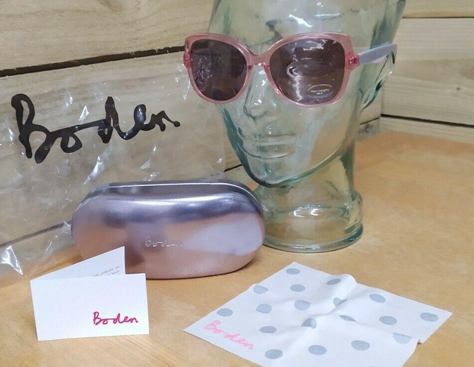 ! nuevas! Gafas De Sol Diseñador Boden-Rosa y Gris + Estuche, Paño De Limpieza-AV115 FC3