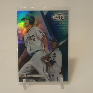 2018 Topps Gold Label Blue Level 3 Parallel Wil Myers 11/50 SSP San Diego Padres