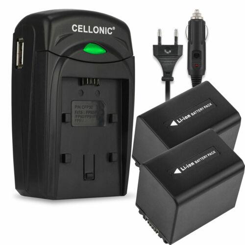 cargador Batería 2x para Sony fdr-ax100e hdr-cx625 dcr-sx53 hdr-cx570 2050mah