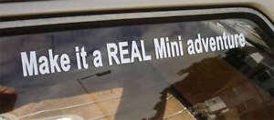 039-Make-it-a-REAL-Mini-Adventure-039-Funny-Car-Sticker-Austin-Rover-Cooper-S-Clubman