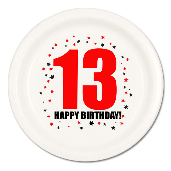 Happy 13th Birthday Age 13 Party Supplies Dessert Cake Plates Ebay