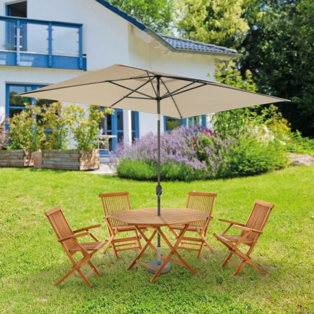 Sonnenschirm 2x3m Rechteckig Balkonschirm Marktschirm Terrasse Garten B Ware