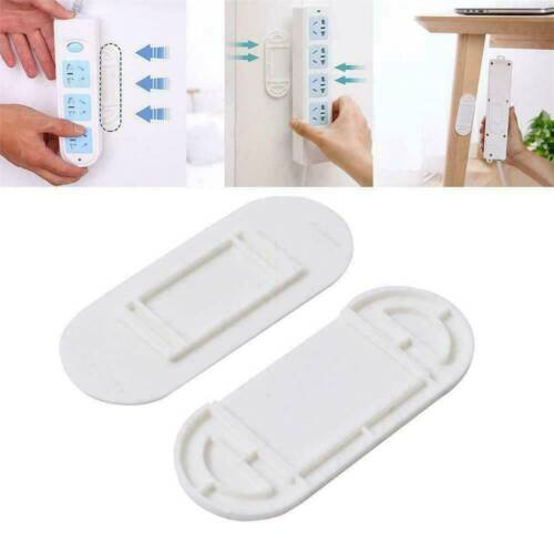 2PCS Wall Hanging Patch Panel Strip Holder Row Insert Punch-free Holder