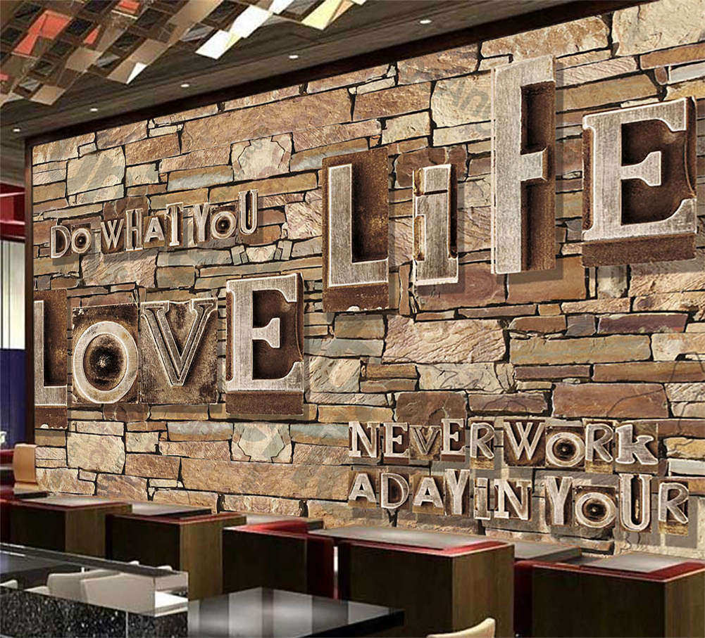 Letters On Wall 3D Full Wall Mural Photo Wallpaper Printing Home Kids Decor