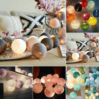 1.6m/3m Mixed Colors Cotton Ball Strap String Fairy Lights Wedding Party Decor