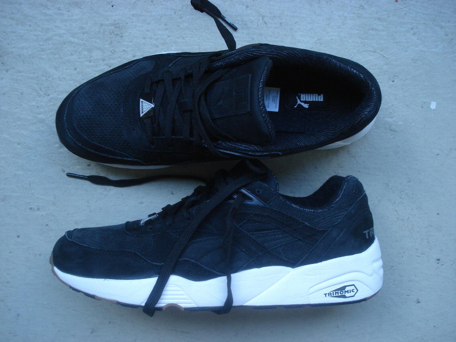 Puma trinomic R 698  PERF Pack  44.5 negro blanco