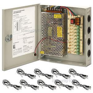 image is loading 9-ch-power-supply-box-cctv-camera-distribution-