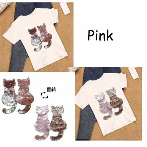 Katze-Art-umkehrbare Sequins-Tuch-Aufkleber für Mantel-Jeans-T-Shirt Mode DE
