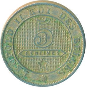 COIN / BELGIUM / 5 CENTIMES 1894  #WT6368
