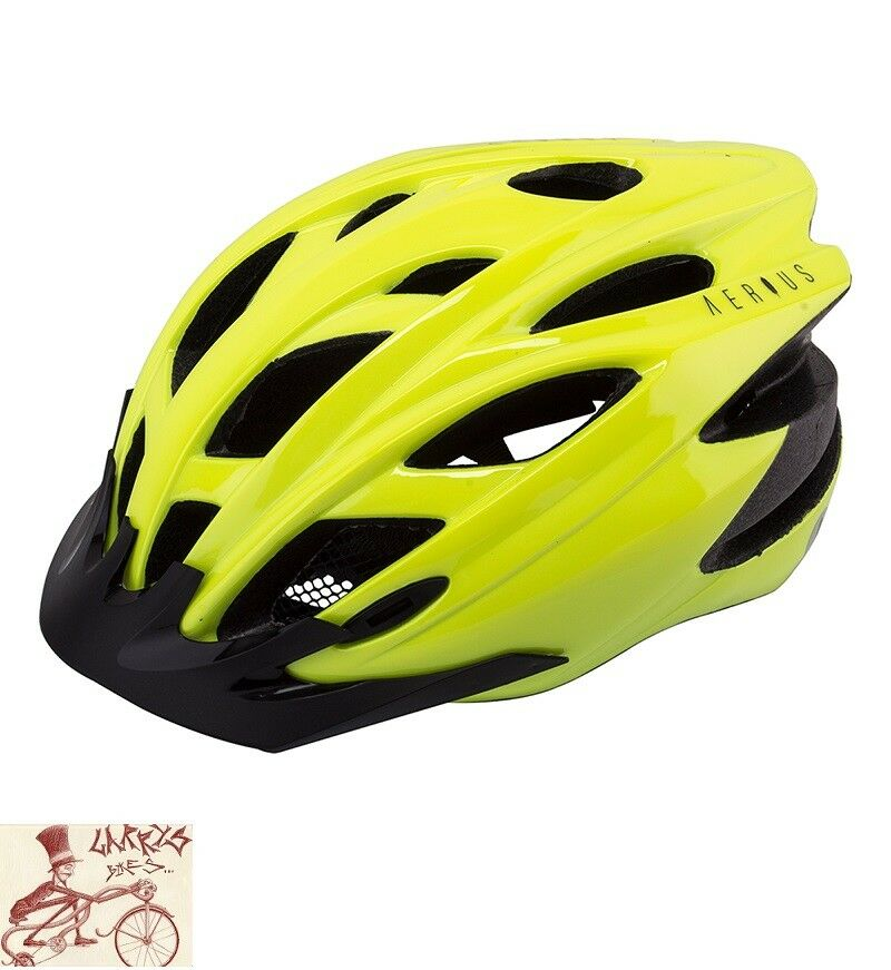 AERIUS  RAVEN HI-VIS  YELLOW LARGE--X LARGE BICYCLE HELMET  save on clearance
