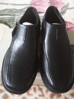 NIB Clark/'s black leather dress shoes men/'s 9.5 free shipping