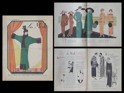 LA MODE - N°44 - 1922 - FRENCH WOMEN FASHION MAGAZINE - COATS, DRESSES