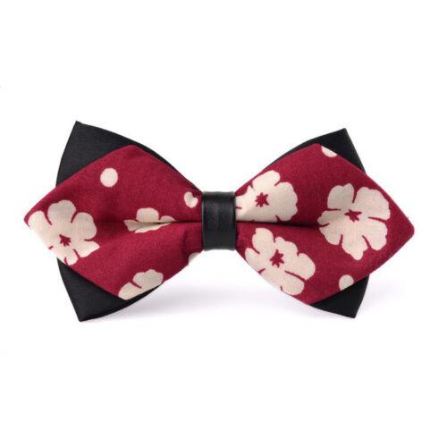 Herren Business Blume Muster Fliegen Einstellbar Schleife Hochzeit Party