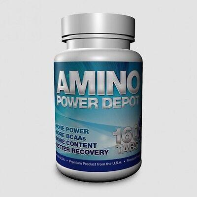 AMINO POWER DEPOT = 160 Tabletten Aminos BCAA Glutamin Recovery no kapseln bcaas