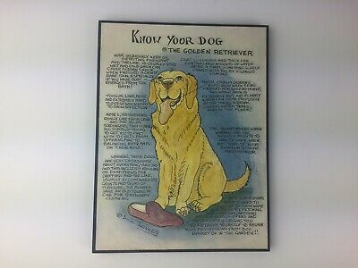 Black Labrador Know Your Dog Canvas Cartoon Wall Plaque by Dick Twinney