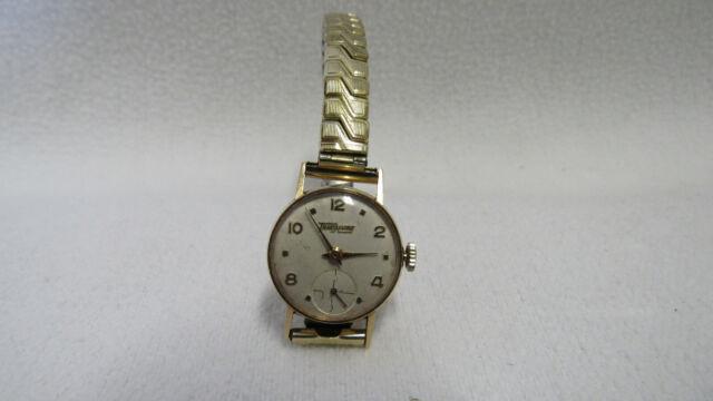 Da: Armbanduhr, 18 ct Gold, 4,5 g. Punze Frauenkopf, Fa