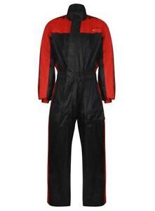 Pluie Costume Over Combinaison De Pluie One 1 Pièce Moto Imperméable Rouge/noir Ju8omtvu-07222702-574104678