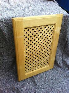 Image is loading Solid-Oak-Frames-Lattice-panel-dresser-or-kitchen- & Solid Oak Frames Lattice panel dresser or kitchen cabinet doors   eBay