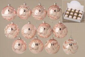 Christbaumkugeln Rosa Glas.Details Zu 2 Christbaumkugeln Rosa ø 8 Cm Glas Christbaumkugel Glaskugeln Weihnachtskugeln