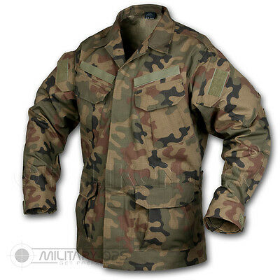 HELIKON TEX SFU SHIRT BDU US ARMY SPECIAL FORCES UNIFORM COMBAT POLISH WOODLAND