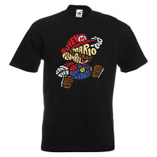 e6d08a941b item 2 Mario Bros Text Mens PRINTED T-SHIRT Game Gaming Plumber Super  Nintendo -Mario Bros Text Mens PRINTED T-SHIRT Game Gaming Plumber Super  Nintendo
