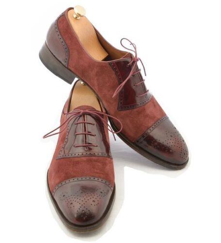 Hommes Chaussures Hommes CREATEUR Chaussures Handmade Hommes élégant Bourgogne Formelle Chaussures
