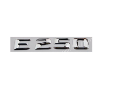 CHROME BENZ AMG REAR TRUNK LETTERS BADGE EMBLEM FOR MERCEDES BENZ E-CLASS