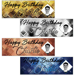 1-35m-Personalised-Photo-Happy-Birthday-Party-Satin-Paper-Banner-Decoration