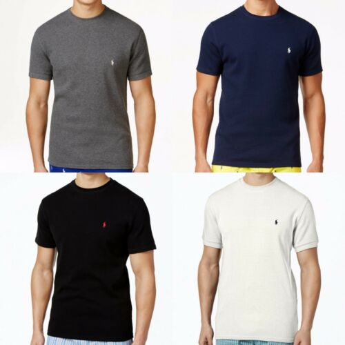 Ralph Lauren Polo Men/'s S//S Waffle Knit Thermal Crew-Neck T-Shirt