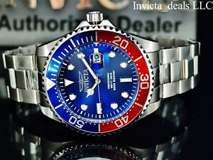 Invicta-Mens-47mm-Grand-Diver-Quartz-Blue-Dial-Silver-Tone-Stainless-Steel-Watch