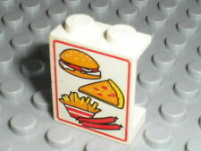 LEGO TRAIN White Panel 1 x 2 x 2 with Food Pattern ref 4864bpx1 / Set 4560 4561