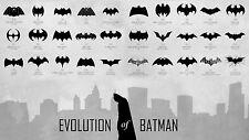 Poster - Evolution of Batman 1940 – 2012 (Picture Superhero Marvel Comic-Con)