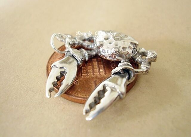 WONDERFUL CRAB WITH MOVING CLAWS STERLING SILVER CHARM