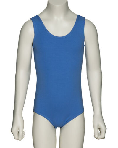 ISTD Sky Blue Ballet Dance Cotton Leotard All Sizes ISTD-1 By Katz Dancewear