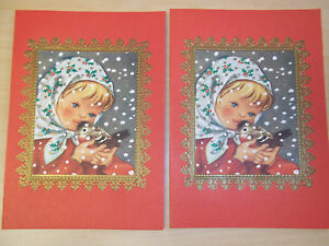 image is loading 2 vintage brownie by rust craft christmas cards - Mint Christmas Cards