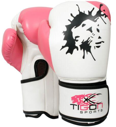 Boxing Gloves Fight Punch Bag MMA Muay Ladies Thai  Pads Kickboxing Kids Junior