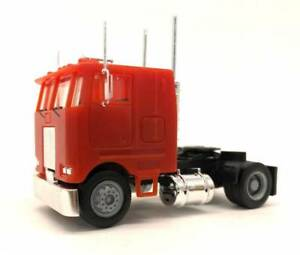 Red-Peterbilt-Cabover-2-Axle-PROMOTEX-HERPA-1-87-Truck-HO-Scale-25245