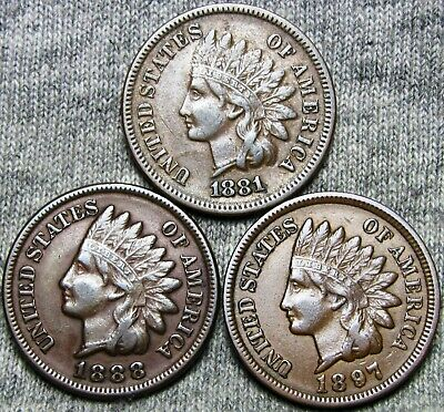 1897 P Indian Head Cent Penny   *AG OR BETTER*  **FREE SHIPPING**