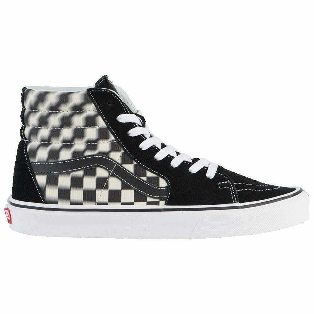 Vans Sk8 Hi Black White   bluer Check Men's A38GEVJM