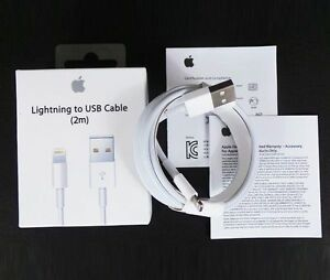 Oem Apple Lightning To Usb Cable Charger Iphone 2m Ebay